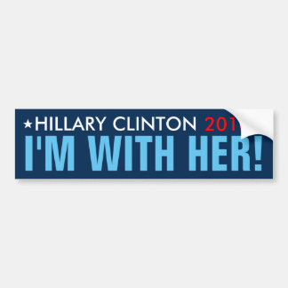 """Hillary 2016 """"estoy CON ELLA!"""" Pegatina para el Pegatina Para Auto"""