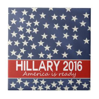 Hillary 2016: Estoy listo Azulejo Cuadrado Pequeño