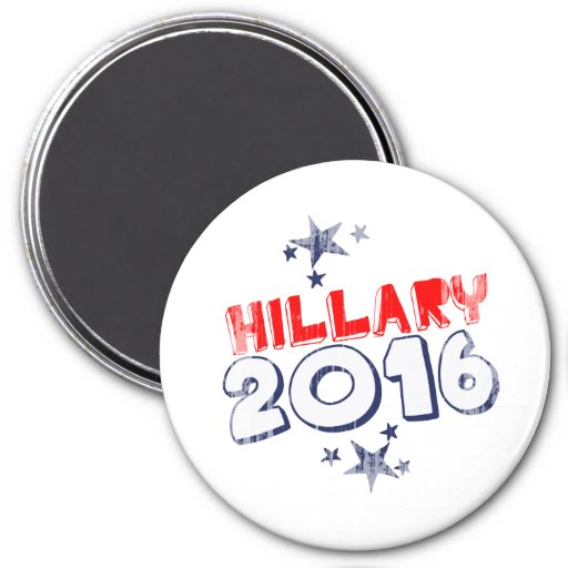 HILLARY 2016 Faded.png 3 Inch Round Magnet