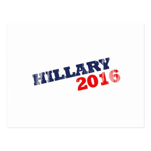 HILLARY 2016 - Faded.png Tarjeta Postal