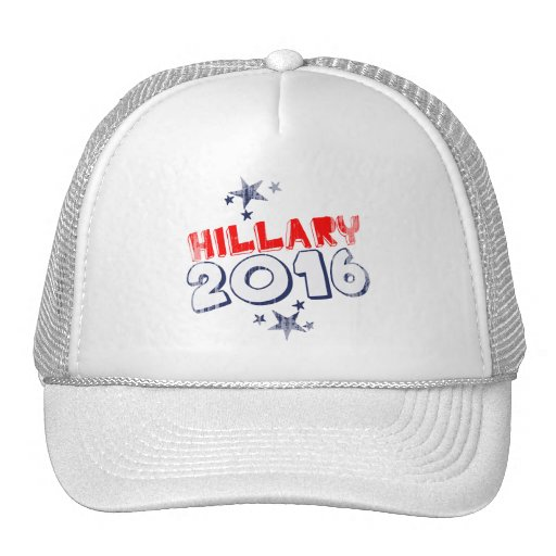 HILLARY 2016 Faded.png Trucker Hat