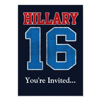 Hillary 2016, fiesta político retro del Grunge Invitación 12,7 X 17,8 Cm