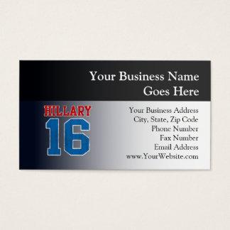 Hillary 2016, Grunge Retro Varsity Business Card