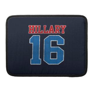 Hillary 2016, Grunge Retro Varsity MacBook Pro Sleeve