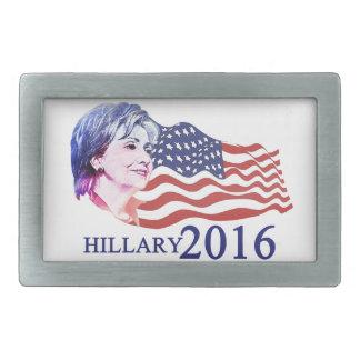Hillary 2016 hebillas de cinturón rectangulares