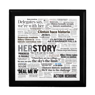 Hillary 2016 Historic Headline Collage Box