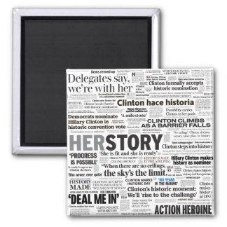 Hillary 2016 Historic Headline Collage Magnet