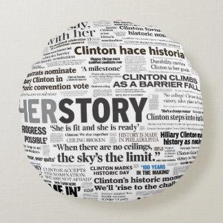 Hillary 2016 Historic Headline Collage Pillow