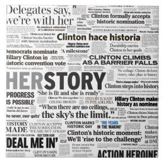 Hillary 2016 Historic Headline Collage Tile