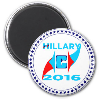 Hillary 2016 imán redondo 5 cm