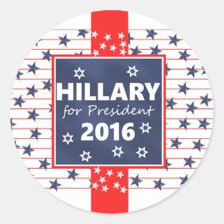 Hillary 2016: I'm ready Classic Round Sticker