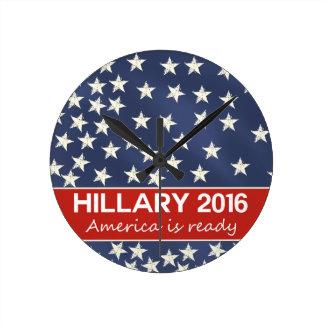 Hillary 2016: I'm ready Round Wall Clocks