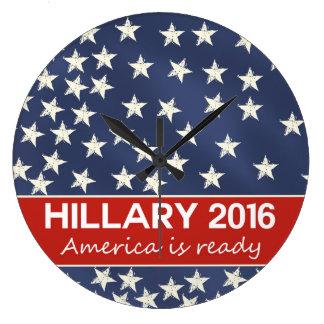 Hillary 2016: I'm ready Wall Clocks