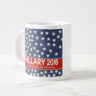 Hillary 2016: I'm ready Large Coffee Mug