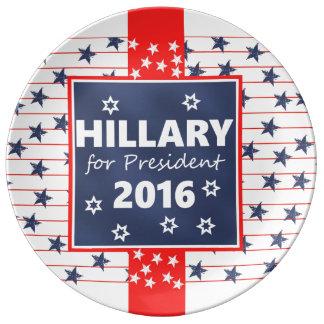 Hillary 2016: I'm ready Porcelain Plates