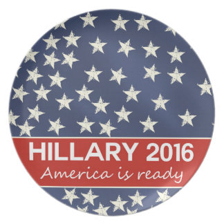 Hillary 2016: I'm ready Dinner Plate