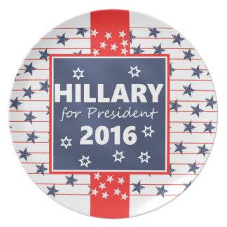 Hillary 2016: I'm ready Party Plates