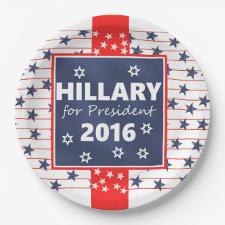 Hillary 2016: I'm ready 9 Inch Paper Plate