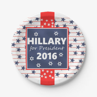 Hillary 2016: I'm ready 7 Inch Paper Plate