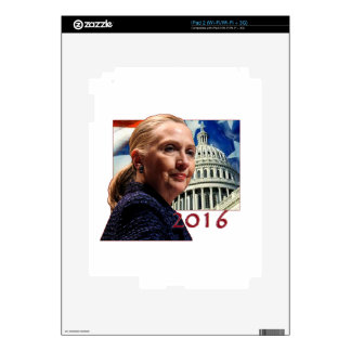 Hillary 2016 iPad 2 calcomanías