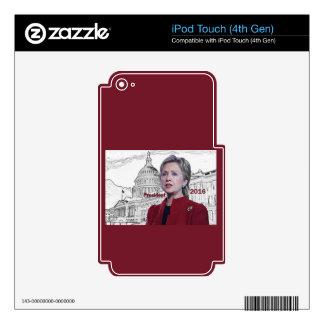 Hillary 2016 iPod touch 4G decal