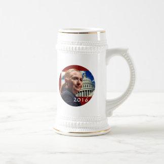 Hillary 2016 jarra de cerveza