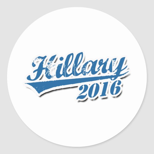 HILLARY 2016 JERSEY OUTLINE.png Classic Round Sticker