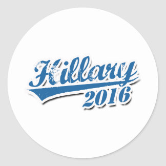 HILLARY 2016 JERSEY OUTLINE.png Round Stickers