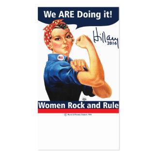 Hillary 2016 lo estamos haciendo las tarjetas de tarjetas de visita