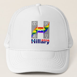 Hillary 2016 Logo Gay Rights Are Human Rights Trucker Hat