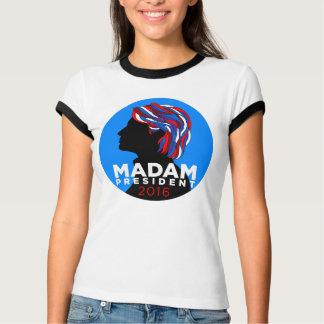 Hillary 2016: Madame President Ringer T-shirt