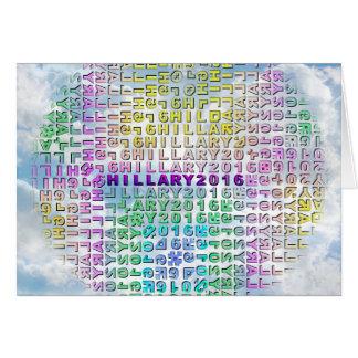 Hillary 2016 Matrix Mirror - Horz Greeting Card