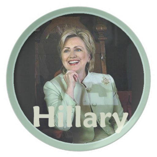 Hillary 2016 melamine plate