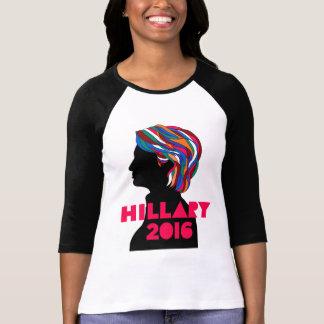 Hillary 2016: Mujeres 3/4 camiseta del raglán de Playera