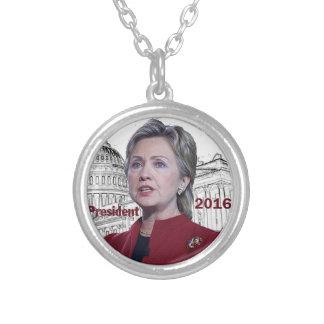 Hillary 2016 round pendant necklace