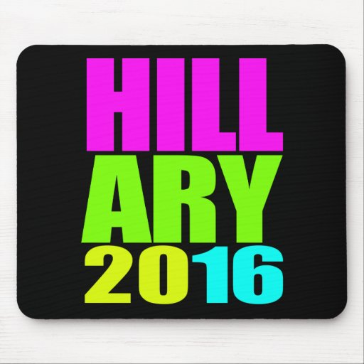 HILLARY 2016 NEON.png Mousepads