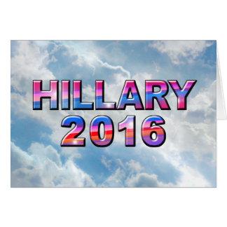 Hillary 2016 No Stars - Horz Greeting Card