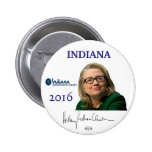 HILLARY 2016 Official Indiana Political Button