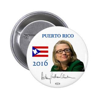 HILLARY 2016 Official Puerto Rico Pinback Button