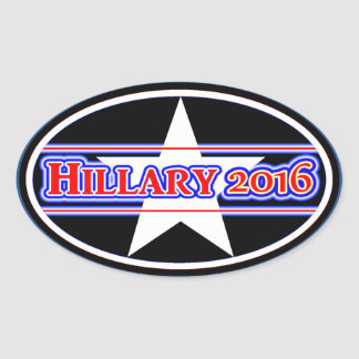 Hillary 2016 oval sticker
