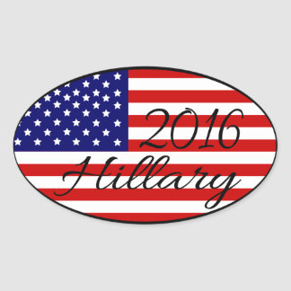 Hillary 2016 oval sticker