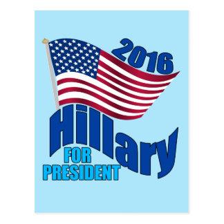 Hillary 2016 para el presidente postales