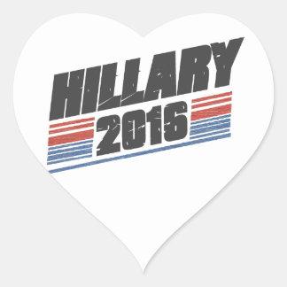 Hillary 2016 calcomania corazon personalizadas