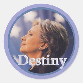 Hillary 2016 pegatinas redondas