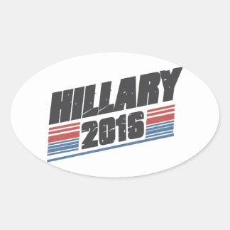 Hillary 2016 pegatina ovalada
