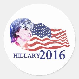 Hillary 2016 etiquetas redondas