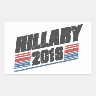 Hillary 2016 pegatina rectangular