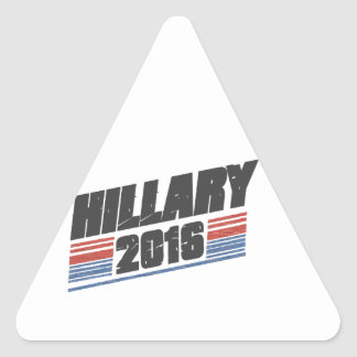 Hillary 2016 pegatina triangular
