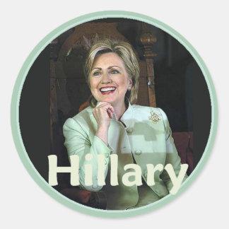 Hillary 2016 etiqueta redonda