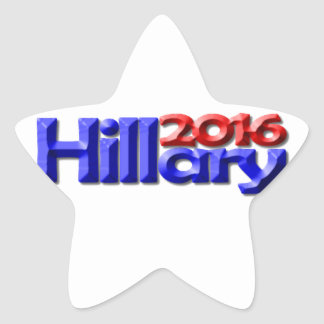 Hillary 2016 pegatina en forma de estrella